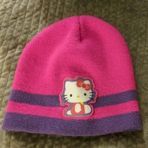 Hello Kitty Pink and Purple Beanie hat